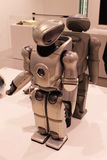 Sony Robot on Display. A QRIO model prototype robot SDR-4X11 which could sing and dance to a Ryuichi Sakamoto song displayed at an exhibition held at the Sony Stock Photos