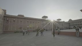 Sony SLog3 Amer jaipur india. The palace have sunrise stock photos