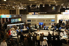 Sony stand at the exhibition Royalty Free Stock Images