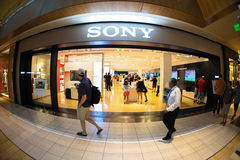 Sony store Royalty Free Stock Photo