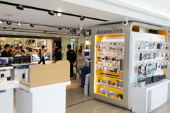 Sony store interior. HONG KONG, CHINA - FEBRUARY 04, 2015: Sony store interior. Sony Corporation, commonly referred to as Sony, is a Japanese multinational royalty free stock images