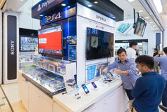 Sony store in Plaza Low Yat, Kuala Lumpur. KUALA LUMPUR - MARCH 13, 2017: A Sony store in Plaza Low Yat. Sony Corporation Japan is one of the leading Stock Photos