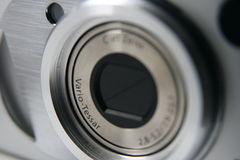 Sony Vario-Tessar lens. On Sony digital compact camera Stock Photography
