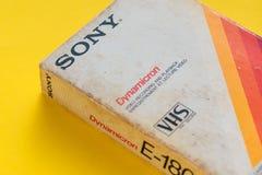 Sony VHS videokassett, retro video teknologi Arkivfoton