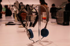 Sony Walkman headphones on Display Royalty Free Stock Photo