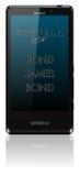 Sony Xperia T mobiele Skyfall Royalty-vrije Illustratie