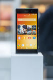 SONY XPERIA Z, MOBILE WORLD CONGRESS 2014 Royalty Free Stock Image