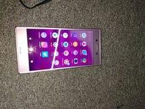 Sony xz dual. Hp, android, sim stock photo