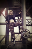 Sonya Blade. Italian model plays Sonya Blade (Mortal Kombat Stock Photo