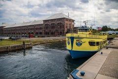 Soo Locks Boat Tours Lizenzfreies Stockfoto