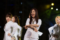 Soo Young (SNSD band) at the Human Culture EquilibriumConcert Korea Festival in Viet Nam Royalty Free Stock Images