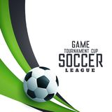 Soocer tournament league football background. Illustration Stock Images