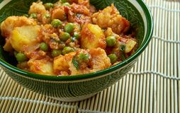 Sooka Aaloo Simla Mirch. Baby potatoes and crunchy bell peppers make this dish in Punjabi Style Royalty Free Stock Photography