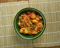 Sooka Aaloo Simla Mirch. Baby potatoes and crunchy bell peppers make this dish in Punjabi Style Stock Image