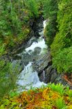 Sooke potholes and  waterfall Royalty Free Stock Image