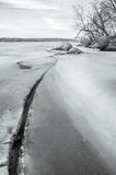 Soon comes the spring. The river is trying to break free from ice Royalty Free Stock Photo