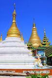 Soon Oo Ponya Shin Pagoda, Sagaing, Myanmar. The Soon Oo Ponya Shin Pagoda is located on the top of the Sagaing Hill. It is one of the oldest temples on Sagaing stock photos