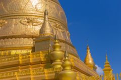 Soon U Ponya Shin Pagoda, Sagaing in Myanmar. Soon U Ponya Shin Pagoda, Sagaing, near Mandalay, in Myanmar Stock Image