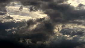 Soon will Storm. Time Lapse. Harsh northern sky before a severe thunderstorm stock video