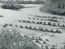 Soort bevroren rivier Royalty-vrije Stock Afbeeldingen