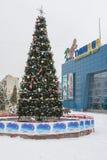 Soort de winter in de Nieuwjarenspar voor een vermaakcentrum Royalty-vrije Stock Foto