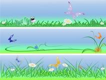 Soort drie grappige achtergronden vector illustratie