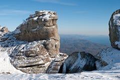 Soort hoogte bergen op het overzees Stock Afbeelding