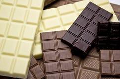 Soorten chocolade Royalty-vrije Stock Foto