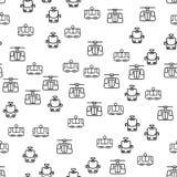 Soorten Vector van het Spoorwegvervoer de Naadloze Patroon vector illustratie