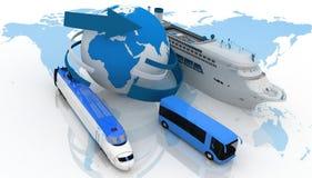 Soorten vervoer voor een cruise royalty-vrije illustratie