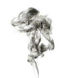 Soot. Black smoke. Black smoke on a white background Royalty Free Stock Photos