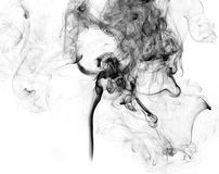 Soot. Black smoke. Black smoke on a white background Royalty Free Stock Images