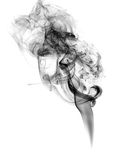 Soot. Black smoke. Black smoke on a white background Royalty Free Stock Photo