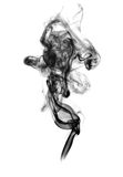 Soot. Black smoke. Black smoke on a white background Stock Image
