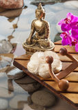 Soothing Buddha inner beauty symbol Royalty Free Stock Photo