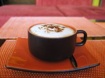 A soothing cappuccino - another delight for your audience ! Stock Photo