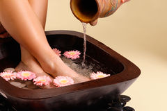 Soothing Foot Soak Stock Photography
