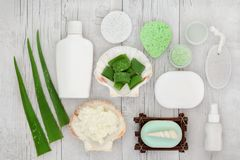 Soothing Skincare Products royalty free stock photos