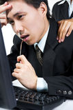 Soothing stress businessman Royalty Free Stock Photo