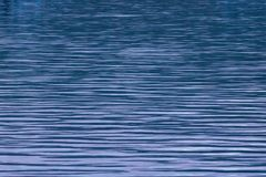 Soothing Water Patterns At Blue Hour. Soothing water patterns and reflections royalty free stock photos