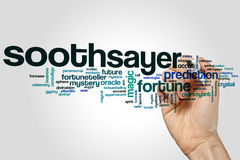 Soothsayer word cloud. Concept on grey background Royalty Free Stock Photo