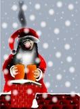 Sooty Santa. Royalty Free Stock Photo