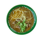 Sop saudara. Beef or buffalo soup specialty of Makassar city, South Sulawesi Stock Images