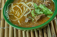 Sop saudara. Beef or buffalo soup specialty of Makassar city, South Sulawesi Royalty Free Stock Photography