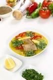 Sopa óssea turca do cordeiro com cenoura Foto de Stock Royalty Free