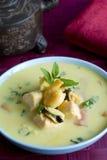 Sopa al curry de los mariscos Fotografía de archivo libre de regalías