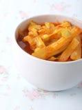 Sopa amarga de Moringa hecha de la goma del tamarindo Foto de archivo