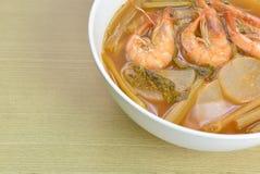 Sopa amarga hecha de la goma del tamarindo, comida tailandesa Imagen de archivo