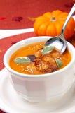 Sopa asada picante de la calabaza Fotos de archivo