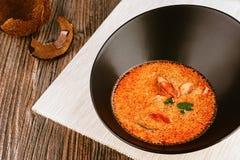 Sopa asiática de los mariscos del ñame de Tom Fotografía de archivo